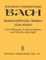BACH - Airs de Cantates Basse - Partition - di-arezzo.fr