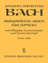 Jean-Sébastien Bach - Airs de Cantates Soprano Volume 1 - Partition - di-arezzo.fr