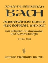 BACH - Ausgewählte Duet Sopran and Alt Volume 3 - Sheet Music - di-arezzo.com