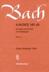 BACH - Cantata 49 Ich Geh Und Suche Mit Verlangen - Sheet Music - di-arezzo.com