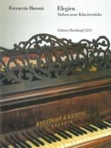Elegien Ferruccio Busoni Partition Piano - laflutedepan.com