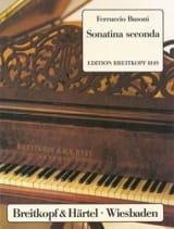 Ferruccio Busoni - Sonatina Seconda Bv 259 - Partition - di-arezzo.fr