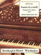 Sonate Pour Piano Mi Mineur Op. 28 Niels Gade laflutedepan.com