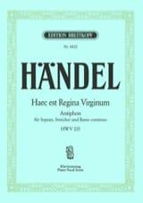 HAENDEL - Haec East Regina Virgin HWV 235 - Partitura - di-arezzo.es