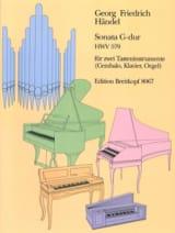 Georg-Friedrich Haendel - Sonate En Sol Majeur HWV 579. 2 clavecins - Partition - di-arezzo.fr