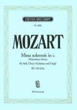 Missa Solemnis en Do mineur - KV 139 (47a) - MOZART - laflutedepan.com