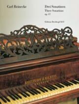 3 Sonatines Op. 47 Carl Reinecke Partition Piano - laflutedepan.com