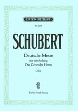 SCHUBERT - Deutsche Messe - D 872 en Fa Majeur - Partition - di-arezzo.fr