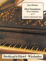 3 Sonatines Opus 67 Jean Sibelius Partition Piano - laflutedepan.com