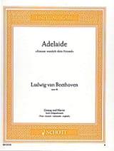 Adelaide B-Dur Op. 46 Voix Haute BEETHOVEN Partition laflutedepan.com