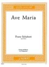SCHUBERT - Ave Maria. Opus 52-6. Aloud - Sheet Music - di-arezzo.co.uk