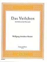 Das Veilchen K 476. MOZART Partition Mélodies - laflutedepan.com