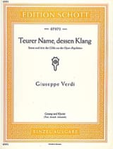 VERDI - Teurer Name, Dessen Klang. Rigoletto - Partition - di-arezzo.fr