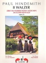 8 Valses Op. 6. 4 mains Paul Hindemith Partition laflutedepan.com
