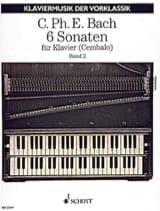 6 Sonaten. Volume 2 Carl-Philipp Emanuel Bach laflutedepan.com