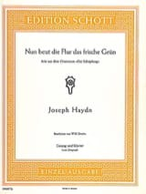 HAYDN - Nun Beut Flur Das Frische Grün. Creation - Sheet Music - di-arezzo.co.uk