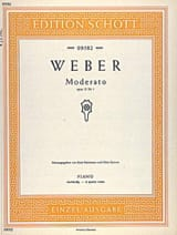 Moderato, op. 10/1 Weber Partition Piano - laflutedepan.com