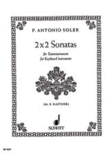 Soler - 2 x 2 Sonatas - Partition - di-arezzo.fr