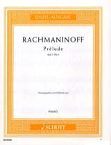 RACHMANINOV - Prelude C sharp Minor Opus 3-2 - Sheet Music - di-arezzo.com