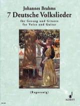 7 Deutsche Volkslieder BRAHMS Partition Guitare - laflutedepan.com