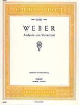 Andante con Variazioni Carl M von Weber Partition laflutedepan.com