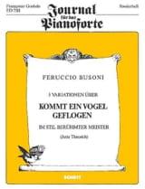 Ferruccio Busoni - 5 Variations Sur kommt Ein Vogel Geflogen - Partition - di-arezzo.fr