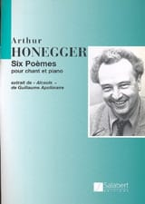 Arthur Honegger - 6 Poems of Apollinaire - Sheet Music - di-arezzo.co.uk