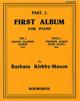 First Album For Piano Part 1 Barbara Kirkby-Mason laflutedepan.com